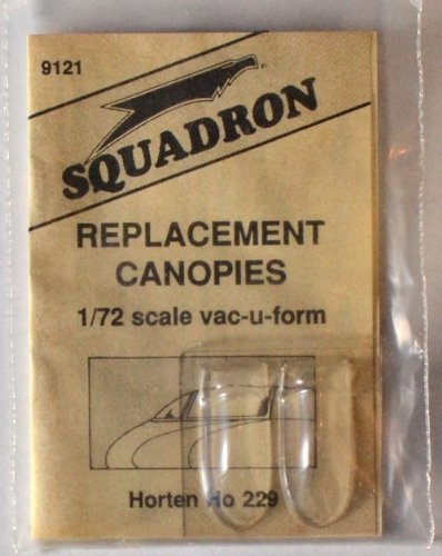Squadron Products Horten 229 Vacuform Canopy