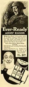 1918 Ad Ever-Ready Army Razor World War I American Safety Blades WWI Shaving Kit - Original Print Ad