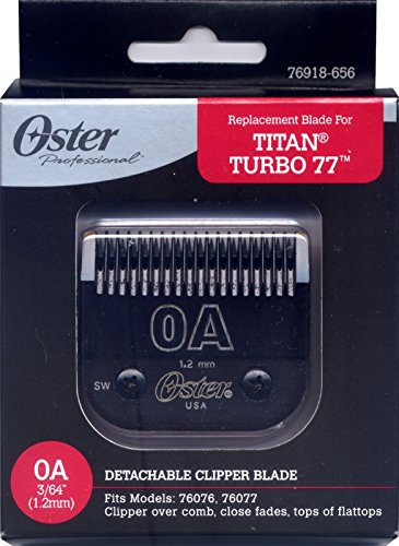 Oster Titan/Turbo 77 Replacement Blade Size: 0A (Oster 77 Blades compare prices)
