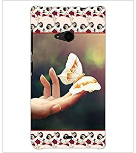 PrintDhaba Butterfly D-5103 Back Case Cover for MICROSOFT LUMIA 535 (Multi-Coloured)