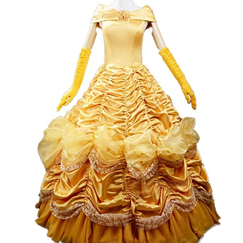 Wraith of East Adult Princess Belle Costume Beauty and the Beast Cosplay Dress
