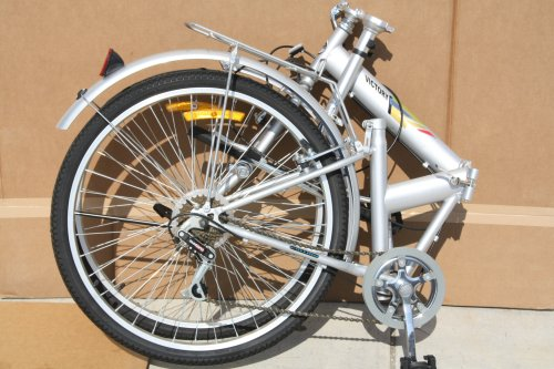 "Victory Model A09 - 26"" Deluxe Folding Bicycle with 6-speed Shimano Shifting Gear"