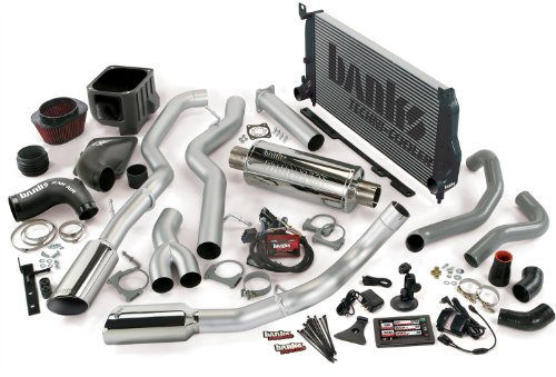 Banks Power 47740 Big Hoss Bundle; Performance System; Incl. Six-Gun Diesel Tuner/Banks iQ/Banks Ram-Air Intake/Techni-Cooler Intercooler/Monster Exhaust; Duals;