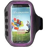 Topforcity Purple Sports Gym Neoprene Armband Case for Samsung Galaxy S4 I9500 / S3 I9300