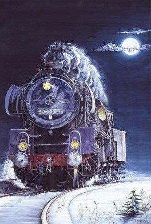 Locomotive-1000-Pc-Jigsaw-Puzzle-By-Castorland-Rf-101269