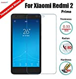 MobiX Redmi 2 Prime Tempered Glass Screen Protector For Xiaomi Redmi 2 Prime / Redmi 2 {9H 2.5D round edges}