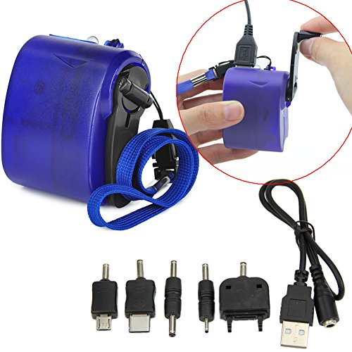 YSTD® Dynamo Hand Crank Generator USB Cellphone Emergency Charger For PDA Nokia, Motorola, Samsung, Sony Ericsson, Dopod MP3 and MP4