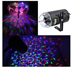 Disco Dj Stage Lighting Rotating Strobe LED RGB Crystal Rainbow Color Effect Light KTV Xmas Party Wedding Show Club Pub