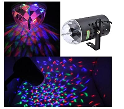 Disco Dj Stage Lighting Rotating Strobe LED RGB Crystal Rainbow Color Effect Light KTV Xmas Party Wedding Show Club Pub by GOCOMCOM