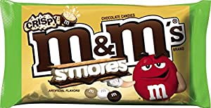 M&M'S S'mores Crispy Chocolate Candy 8-Ounce Bag