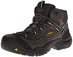KEEN Utility Men\'s Braddock Mid Steel Toe Boot,Gargoyle/Forest,9 D US