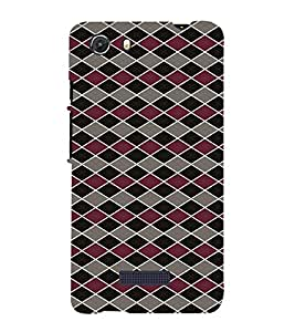 iFasho Animated Pattern of Chevron Arrows royal style Back Case Cover for MIcromax Unite 3 Q372