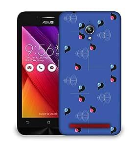 Snoogg bird blue 2450 Designer Protective Back Case Cover For Asus Zenfone GO