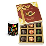 Chocholik Luxury Chocolates - Creative Combination Of Truffle With Birthday Mug
