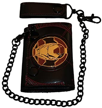 Iron Man Marvel Comics wallet with chain