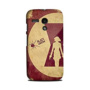 Yashas Moto G Designer Printed Case & Covers (Moto G Back Cover) - Black Widow