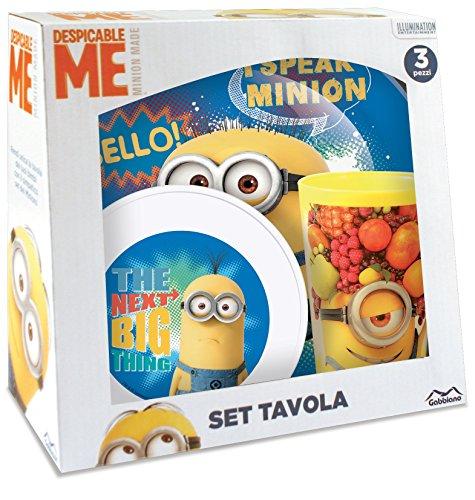 Vamos 39280 licenza Set da colazione, motivo: Minions, in melamina, 3 pezzi