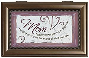 Carson Home Accents 17461 Mother Rectangle Music Box, 6-Inch by 4-Inch by 2-1/2-Inch