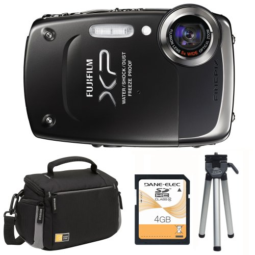 FinePix XP20 with Mini Tripod, Carry Case and 4GB SD Card