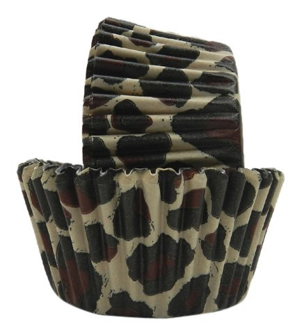 Regency Patisserie Greaseproof Baking Cups 40 Standard Sized Animal Leopard Print