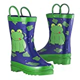 Little Boy's Green Frog Rain Boots Sizes 7/8, 9/10 and 11/12