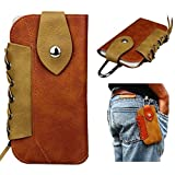 #2: FLOVEME Western Cowboy Style Pouch Magnet Buckle Waist Bag Pack Utility Gadget Belt with Cell Phone Holster Holder iPhone 4 4s 5 5s 5c SE 6 6s 7 Plus, Samsung S3 S4 S5 S6 S7 Edge etc, Brown