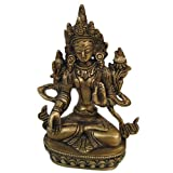 Buddhist Sculpture Tara Buddha Handmade Collectible Brass Statueby DakshCraft