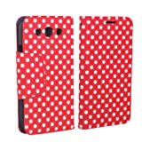 niceEshop Red/White Polka Dot Leather Wallet Flip Standing Case Cover fit for the new Samsung Galaxy S3 i9300