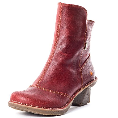 Art Oteiza Womens Leather Boots Dark Red - 37 EU