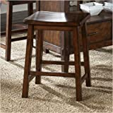 Cabin Fever Formal Dining Sawhorse Barstool in Bistro Brown