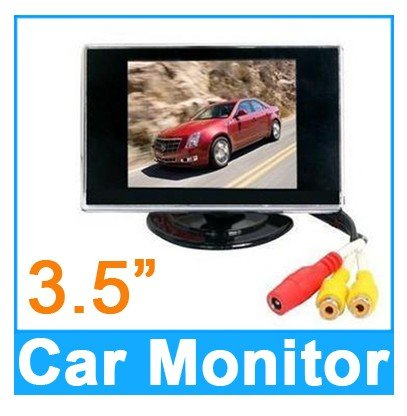 3.5 Inch Small TFT LCD Adjustable Monitor For Security CCTV Camera and car DVR with AV RCA video sound input , Stand Security TFT LCD Monitor Easy installation