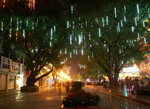 tuscom-30cm-led-lights-meteor-shower-rain-snowfall-xmas-tree-garden-outdoor-white