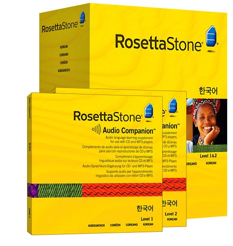 Rosetta Stone Version 3: Korean Level 1 and 2 Set with Audio Companion (Mac/PC CD)