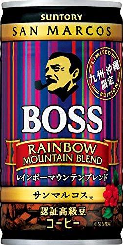 缶コーヒー ボス 九州・沖縄 レインボーマウンテン 185g缶×30本