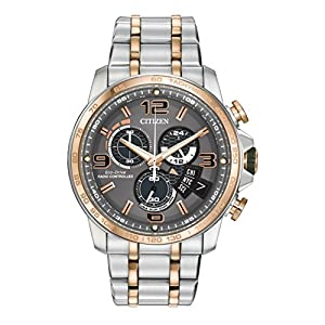 Citizen Men's BY0106-55H Chrono-Time A-T Analog Display Japanese Quartz Two Tone Watch