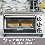 BLACKDECKER-TO1303SB-4-Slice-Toaster-Oven-Includes-Bake-Pan-Broil-Rack-Toasting-Rack-Stainless-SteelBlack-Toaster-Oven