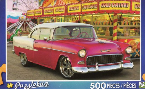 Red Car At The Carnival - Chevrolet - 500 Piece Jigsaw Puzzle