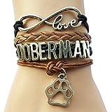 Infinity Love Doberman Paw Bracelet