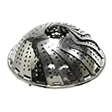 LiviMate Stainless Steel Steamer Basket, 6-Inch Expands to 9.5-Inch