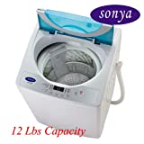 Sonya Compact Portable Apartment Small Washing Machine Washer 1.65cuft./12-13lbs/free Casters Included