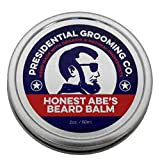 Honest Abe's Beard Balm 2 oz Hand Made Leave In Conditioner with Organic & Natural Ingredients, Tea Tree, Argan Oil, Jojoba. Strengthen Shine Soften and Protect! Promotes Speedy Healthy Hair Growth