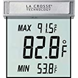 La Crosse Technology WS-1025 Digital Window Thermometer with detachable bracket and records MIN/MAX temp & Auto reset