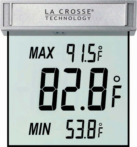 La Crosse Technology WS-1025 Digital Window Thermometer 