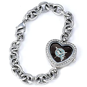 MLB Ladies MLB-HEA-FLA Heart Collection Florida Marlins Watch by Game Time