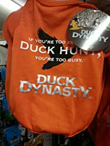 "DUCK DYNASTY SHORT SLEEVE TEE ""IF YOU ARE TOO BUSY TO DUCK HUNT, YOU ARE TOO BUSY"" (ALL SIZES) (Large)"