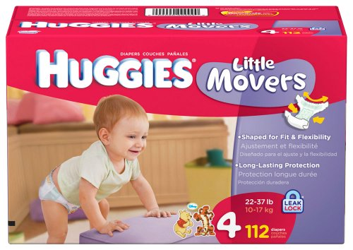 Huggies Little Movers, Size 4, 112 Count (Packaging May Vary)