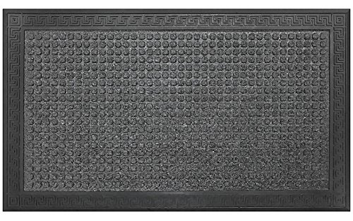 """Gray And Black"" Doormat By Castle Mats, Size 18 X 30 Inches, Non-Slip, Durable"