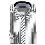 (ミチコロンドン)MICHIKO LONDON 形態安定 ワイシャツ スリム 長袖 2016年秋冬モデル綿高率 G.ホワイト×ブラックストライプ L(41-84cm)