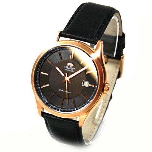 Orient Classic automatico con cinturino Data in pelle vetro fondo signor Rosé Watches fer2C001b0