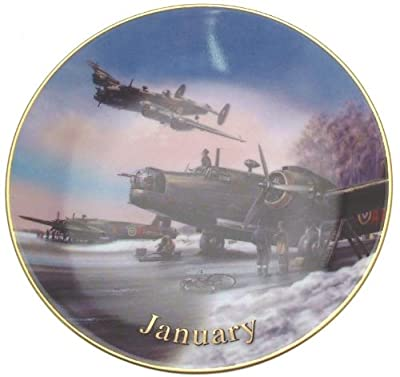 Davenport Wings of Fame January Winter Warriers Wilfred Hardy 6 inch plate CP1736